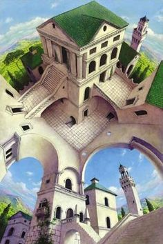 Tuscany II Digital Art by Irvine Peacock Cool Optical Illusions, Art Optical, Illusion Paintings, Illusion Art, 3d Street Art, Illusion Pictures, Mc Escher, Modern Artists, Surreal Art