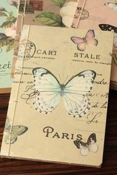 Notebook Carte postale kraft - grijs