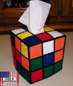 Rubik's Rubiks Rubix Rubik Cube Tissue Box Cover Seen on Big Bang Theory.$24.99 MAKE US A OFFER -IF ITS FAIR YOU MAY WIN.Hand made quality product.Made in the USA from all American materials.Totally authentic and designed by ourselves.Buy one as a Easter present for the Geek in your life.We ship the next working day , no waiting time to be made up.Fast and friendly shipping worldwide in a strong box to avoid transit damage.