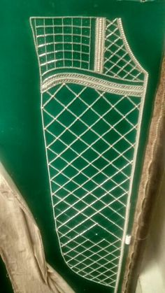 Emerald green royale caftan 2016 in progress