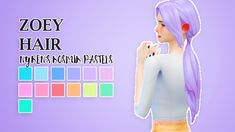 oxford sims, pxelpink: sevenhills-sims' zoey hair recolored!...