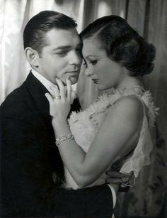 Clark Gable and Joan Crawford in Dancing Lady (1933), which also featured Fred Astaire