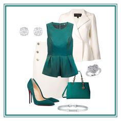 """""""Green duels"""" by xan86 ❤ liked on Polyvore featuring Lanvin, MICHAEL Michael Kors, Giambattista Valli, TIBI, Christian Louboutin, Reeds Jewelers and Alor"""