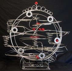 One of the amazing ball sculptues by Stephen Jendro - Rolling Ball Sculpture