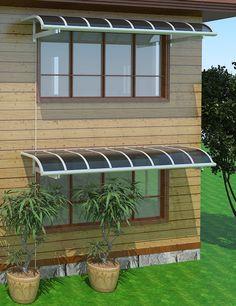 Titan Series Curved Top Door or Window Canopy Door Canopy Porch, Window Canopy, Patio Canopy, Canopy Outdoor, Backyard Sheds, Backyard Landscaping, Door Overhang, Rooftop Terrace Design, Balcony Grill