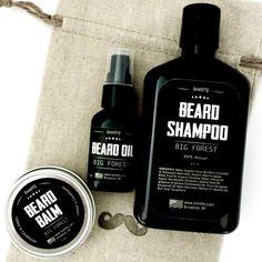 Beard Care Kit: Big Forest Beard Wash, Beard Oil & Beard Balm - by OneDTQ - Best Beard Care