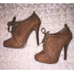 Adorable Tan Booties Only worn once, perfect condition! Shoes Ankle Boots & Booties