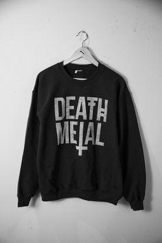 monsteraesthetics:  New DEATH METAL SWEATER!buy it herehttp://monsteraesthetics.com/proddetail.php?prod=black_metal_sweater