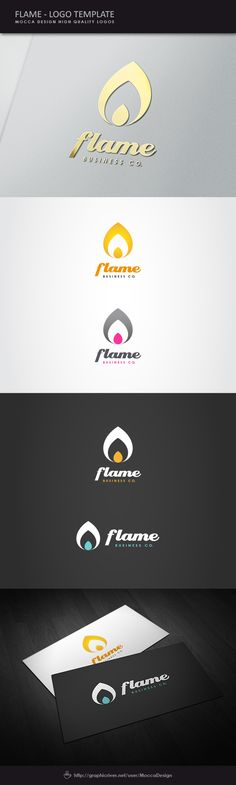 Flame is a clean, professional and elegant logo suitable for Energy Company, heating business, Haute Cuisine, energy drink brand, spa & meditation business, graphic & creative solutions, chill out disco or any other business related