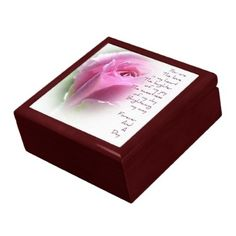 Forever and A Day Rose Poem Mahogany Jewelry Box