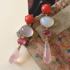 charlotte lynggaard Pearl Earrings, Drop Earrings, Jewelry Branding, Beautiful Earrings, Gemstone Jewelry, Jewelery, Jewelry Accessories, Charlotte, Sparkle