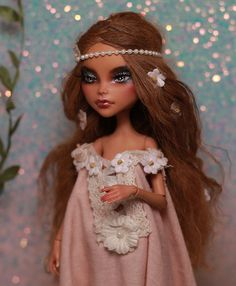 Custom OOAK Monster High Cleo  Repaint Mohair by KaylaKnadleArt