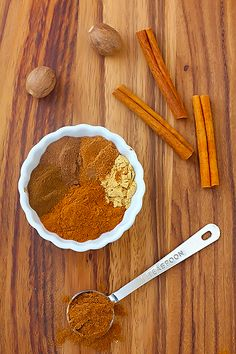 How To Make Pumpkin Pie Spice  Ingredients:      1/4 cup (4 Tbsp.) ground cinnamon      2 Tbsp. ground ginger      4 tsp. ground nutmeg**      2 tsp. ground allspice      2 tsp. ground cloves    In a small bowl, whisk together ingredients until well-blended.  Store in an air-tight jar.  **If using freshly grated nutmeg, you might add slightly less as the flavor can be more intense.
