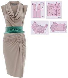 Pattern Dress, Dress Patterns, Sewing, Fashion Design, Dresses, Vestidos, Sailor, Dressmaking, Dress Making Patterns