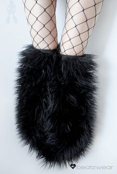 Thigh high fluffies Above the knee gogo boot covers fluffy legwarmers rave anime. $48.00, via Etsy.