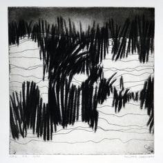 Dans les dunes by Philippe Chesneau - Héliogravure Not toxic engraving - tirage print Vieille Hollande  H L 20 x 20 cm