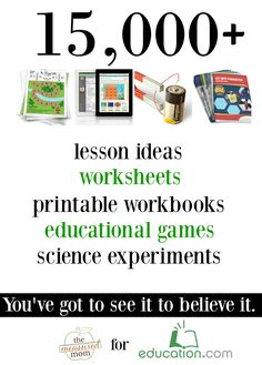 You'll be blown away by the huge variety of printable worksheets, online games, science experiments, lesson plans, and more that you'll find at this site! It's a must-see for teachers, parents, and homeschoolers.