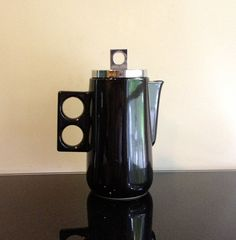Georges Briard Black Stoneware Coffee Pot on Etsy, $75.00