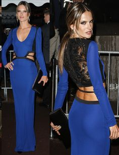Alessandra Ambrosio glamour gown
