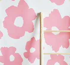 "Removable Wall Paper -  24"" x 48"" Painted Floral Removable wall paper tile - Wall Paper"