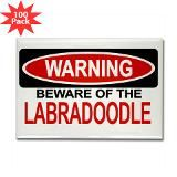 Warning Beware of the labradoodle -does it also say warning you may be loved to death?
