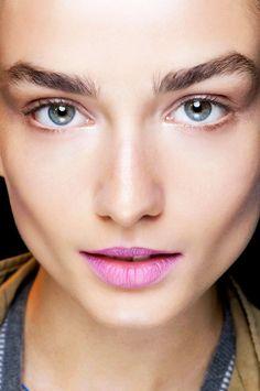 Bubblegum pink lips + fresh-faced