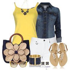 Yellow Summer Top, created by ccroquer on Polyvore