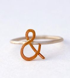 Ampersand Rose Gold Ring | Jewelry Rings | Make Pie Not War | Scoutmob Shoppe | Product Detail