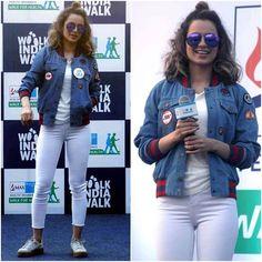 Kangana Ranaut  Jacket - @tommyxgigi  Styled by - @stylebyami @shnoy09  #bollywood #style #fashion #beauty #bollywoodstyle #bollywoodfashion #indianfashion #celebstyle #kanganaranaut #tommyhilfiger #tommyxgigi