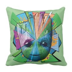 Guardians of the Galaxy Vol. 2 | Groot Color Blast Throw Pillow