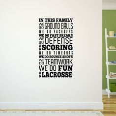 Lacrosse Removable LuLaGraphix Wall Decal We Do Lacrosse