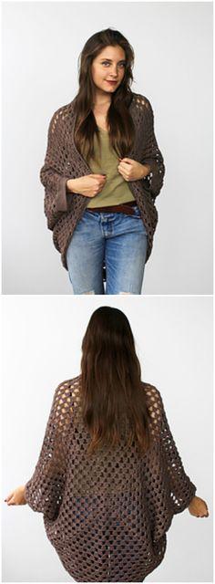 Cocoon Cardi Free Crochet Pattern