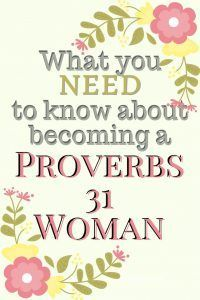 P.S. Proverbs 31 was never meant to tell you what to do; did you know that?