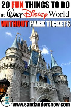Ready to have fun without hitting the Walt Disney World theme parks? Here's 20 awesomely fun things to do at Walt Disney World without needing a theme park ticket! Disney On A Budget, Disney World Vacation Planning, Disney World Theme Parks, Disney World Food, Orlando Vacation, Disney Planning, Walt Disney World, Orlando Florida, Trip Planning