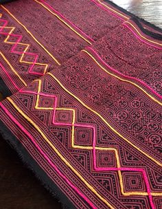 Vintage Hmong Tribal Batik Textile Ethnic handmade hilltribe folk crafts on Etsy, $33.00
