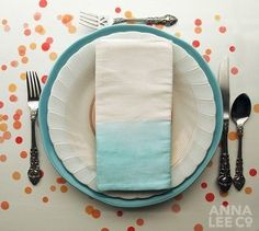 Colorful Dip-Dyed and Paint-Dipped Tableware: 10 Items to Make or Buy