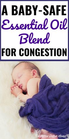 Baby Safe Essential Oil Blend - Essential oils have amazing healing properties, but it's important to use essential oils that are safe around kids. This baby-safe essential oil blend is what I use to help my son when he has congestion - it works wonderfully!