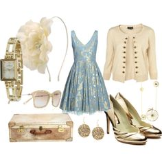 Classic. Love the vintage teal with cream. This would be nice for gala or wedding