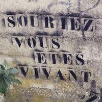 """ Smile, you are alive. "" / Trentemoult, Nantes, France."