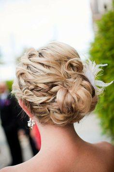 braided bun - wedding hair