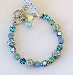 Mariana Bracelet Floral Chrysolite Opal Air Blue Opal Pacific Opal Swarovski | eBay