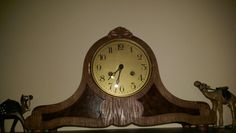 A beautiful fireplace clock Kienzle 1921