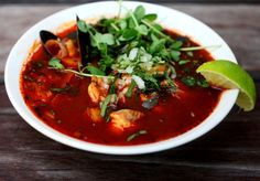 Caldo de Mariscos with shrimp, catfish, mussels: lots of good energy for the weekend!