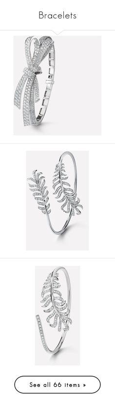 """Bracelets"" by bleubeauty1 on Polyvore featuring jewelry, bracelets, chanel jewelry, chanel, chanel jewellery, fine jewellery, fine jewelry, 18k white gold bangle, white gold diamond jewelry and 18 karat gold bangles"