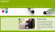 Bamboo Stylus - http://wacom.com/en/Products/Bamboo/BambooStylus.aspx    $29.95