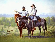 Jackson And Lee Michael Schreck Civil War Art, Stonewall Jackson, Billy The Kids, American Civil War, History Facts, Civilization, Gallery, Artwork, Trivia