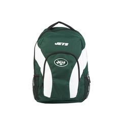 New York Jets Backpack Draftday Style Green and White