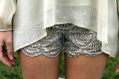 #Sequin #Scalloped #Shorts. Click for more styles.