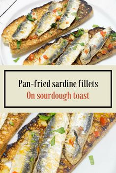 Fresh sardine fillets, pan-fried with garlic and chilli, on toasted sourdough.