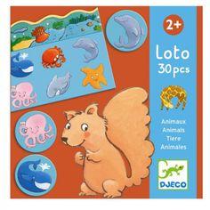 Djeco Kinderspiel Lotto Tiere für Kleinkinder ab 2 Jahren
